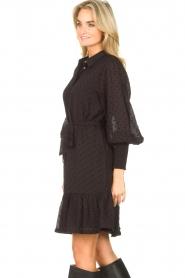 Aaiko |  Dress with tie belt Fana | black  | Picture 5