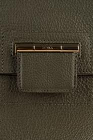 Furla | Leren schoudertas Artesia M | legergroen  | Afbeelding 5