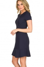Set |  Stretch dress Loralie | dark blue  | Picture 4