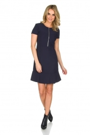 Set |  Stretch dress Loralie | dark blue  | Picture 3