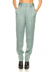 ba&sh |  Satin trousers Wonka | light blue  | Picture 4