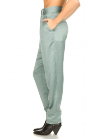 ba&sh |  Satin trousers Wonka | light blue  | Picture 5