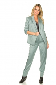 ba&sh |  Satin trousers Wonka | light blue  | Picture 3