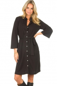 Aaiko |  Midi dress Aimes | black  | Picture 4