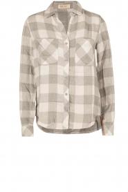 Bella Dahl | Flanellen blouse Check | grijs  | Afbeelding 1