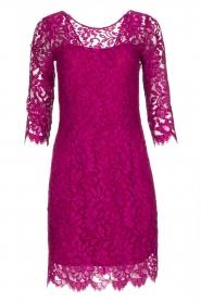 Set | Kanten jurk Lene | fuchsia  | Afbeelding 1