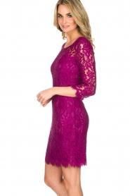Set | Kanten jurk Lene | fuchsia  | Afbeelding 4