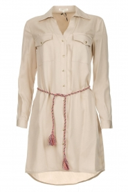 Kocca |  Blouse dress with cord Tangela | beige  | Picture 1