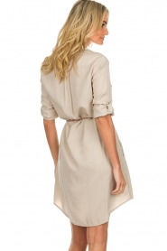 Kocca |  Blouse dress with cord Tangela | beige  | Picture 6