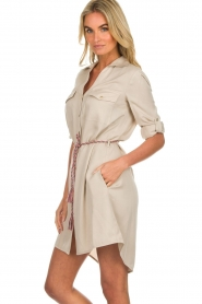Kocca |  Blouse dress with cord Tangela | beige  | Picture 5