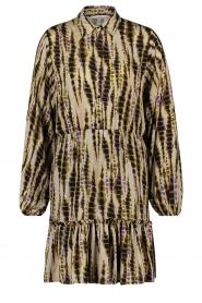 Aaiko |  Tie-dye print dress Suzanna | green  | Picture 1