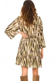 Aaiko |  Tie-dye print dress Suzanna | green  | Picture 7