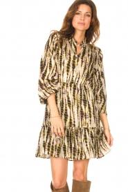 Aaiko |  Tie-dye print dress Suzanna | green  | Picture 2