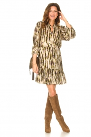 Aaiko |  Tie-dye print dress Suzanna | green  | Picture 3
