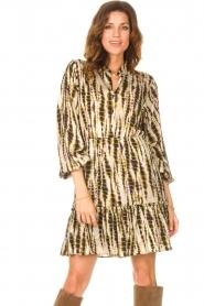 Aaiko |  Tie-dye print dress Suzanna | green  | Picture 5