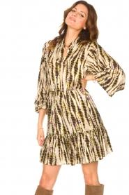 Aaiko |  Tie-dye print dress Suzanna | green  | Picture 4