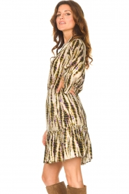 Aaiko |  Tie-dye print dress Suzanna | green  | Picture 6