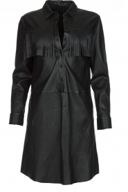 Set | Leren jurk Emma | zwart  | Afbeelding 1