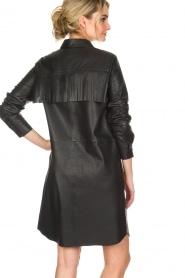 Set | Leren jurk Emma | zwart  | Afbeelding 5