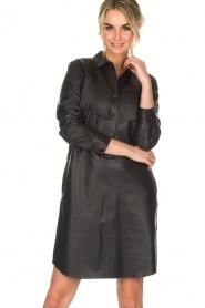 Set | Leren jurk Emma | zwart  | Afbeelding 2