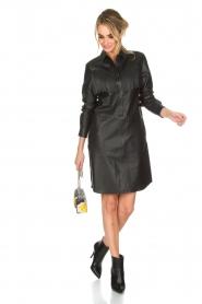 Set | Leren jurk Emma | zwart  | Afbeelding 3