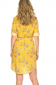 Kocca |  Floral dress Illiade | yellow  | Picture 6