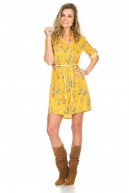 Kocca |  Floral dress Illiade | yellow  | Picture 3