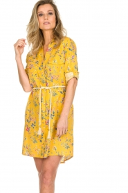 Kocca |  Floral dress Illiade | yellow  | Picture 4
