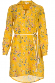 Kocca |  Floral dress Illiade | yellow  | Picture 1