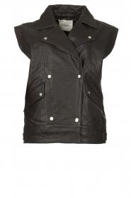 ba&sh    Oversized leather waistcoat Soul   black    Picture 1