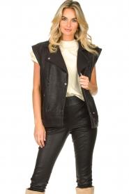 ba&sh    Oversized leather waistcoat Soul   black    Picture 2