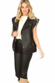ba&sh    Oversized leather waistcoat Soul   black    Picture 4