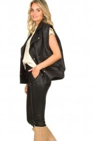ba&sh    Oversized leather waistcoat Soul   black    Picture 5