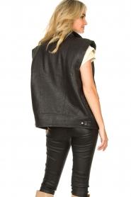 ba&sh    Oversized leather waistcoat Soul   black    Picture 6