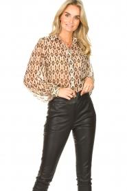 Aaiko    Printed blouse Pillar   brown    Picture 2