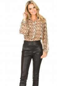 Aaiko    Printed blouse Pillar   brown    Picture 5