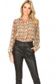 Aaiko    Printed blouse Pillar   brown    Picture 6