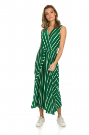 Kocca |  Striped maxi dress with glitters Melia | green  | Picture 2