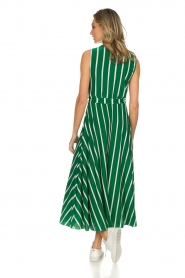 Kocca |  Striped maxi dress with glitters Melia | green  | Picture 5
