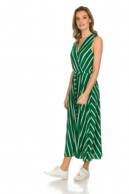 Kocca |  Striped maxi dress with glitters Melia | green  | Picture 4