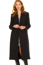 ba&sh |  Long luxury coat Pati | black  | Picture 2