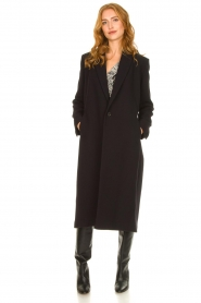 ba&sh |  Long luxury coat Pati | black  | Picture 7