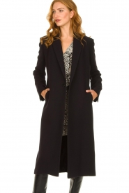 ba&sh |  Long luxury coat Pati | black  | Picture 4