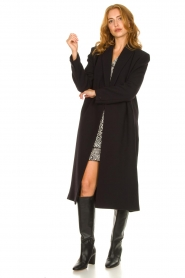 ba&sh |  Long luxury coat Pati | black  | Picture 3
