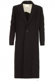 ba&sh |  Long luxury coat Pati | black  | Picture 1
