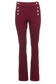 Aaiko |   Trousers with decorative buttons Solla | bordeaux  | Picture 1