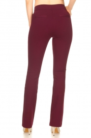 Aaiko |   Trousers with decorative buttons Solla | bordeaux  | Picture 6