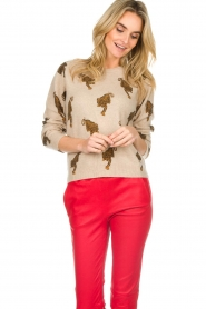 Not Shy | Cashmere sweater Loes | beige  | Picture 4