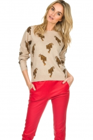 Not Shy | Cashmere sweater Loes | beige  | Picture 2