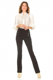 Aaiko |  Flared trousers Solla | black  | Picture 2